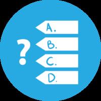 quiz sınav logo simge